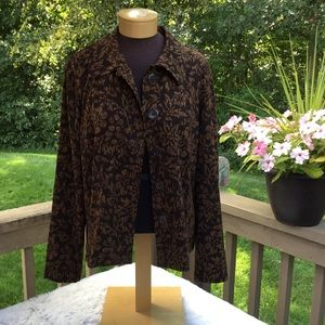 🎈🎈Briggs New York Big Button Top large brown